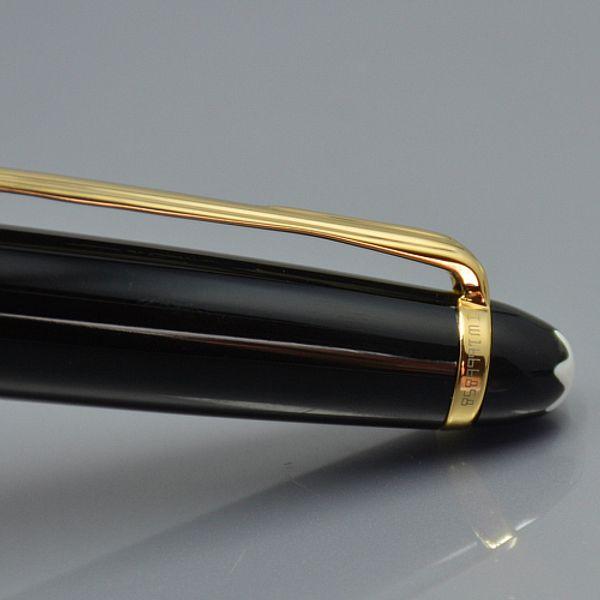 Роскошная классическая 163 смола перьевая ручка канцелярские школьный офис монте бренд 14 К золотой перо написать чернилами с серийным номером лучший подарок