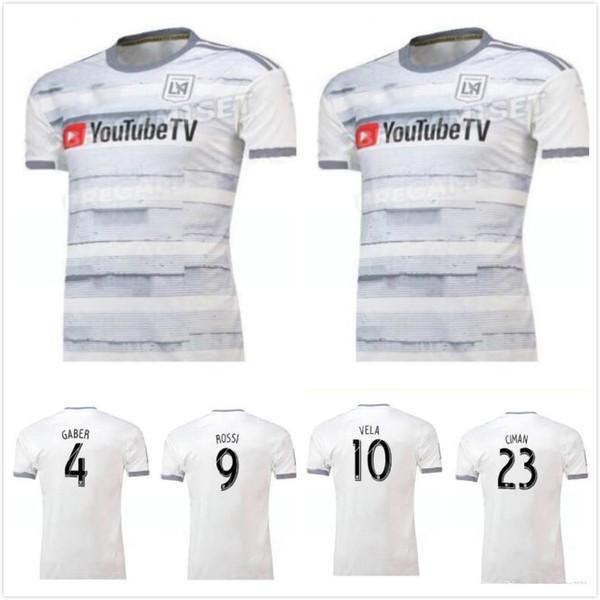 1 En kaliteli 2019 2020 Los Angeles FC Futbol formaları erkekler Açık T-shirt 19 20 LAFC Futbol Formaları LAFC uzakta formalar Açık T-Shirt