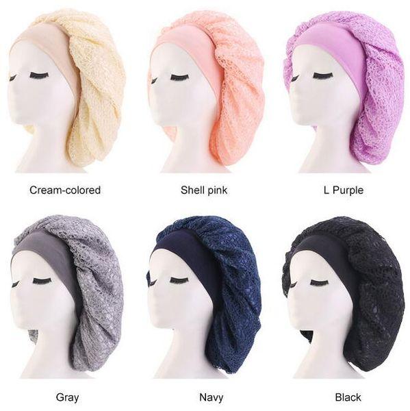 Imitate Silk Mesh Bonnet Cap Night Sleep Hat Muslim Style Caps Hats Hair Loss Cap Women Maternity Hat Chemotherapy Beanies