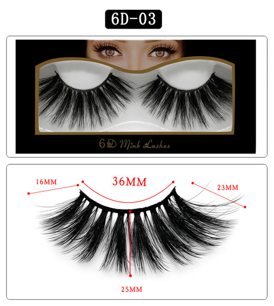 6D-03 NEW 25mm False Eyelashes 5d Mink Hair 6d Stereo Messy Thick Eyelashes Europe and The United States 10 Options 11.2×5.5×1.6cm Single