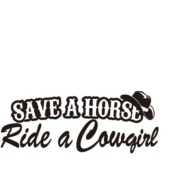 SAVE A HORSE RIDE A COWGIRL CAR FUNNY BUMPER STICKER FUNNY DRIFT