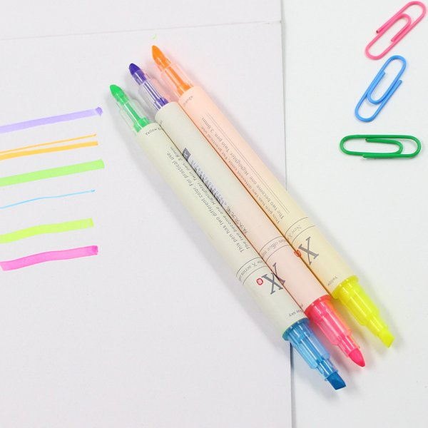 10set 3pcs/set Multi 6 Colors Mildliner Pens Double Headed Fluorescent Pen Art Highlighter Drawing Marker Pen Stationery