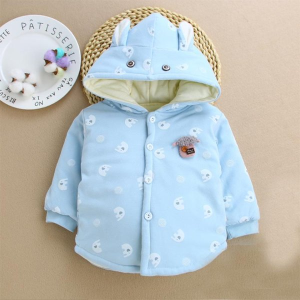 2019 New Winter Baby Girls Boys Clothes 100% Cotton Newborn Coat Warm and Warm Baby Hooded Jacket Outerwear