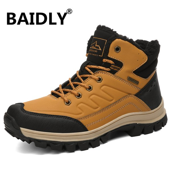 Autumn Winter Mens Hiking Shoes Men's Sneakers Mountain Climbing Shoes Tactical Hunting Footwear New Classic Outdoor Sport Man
