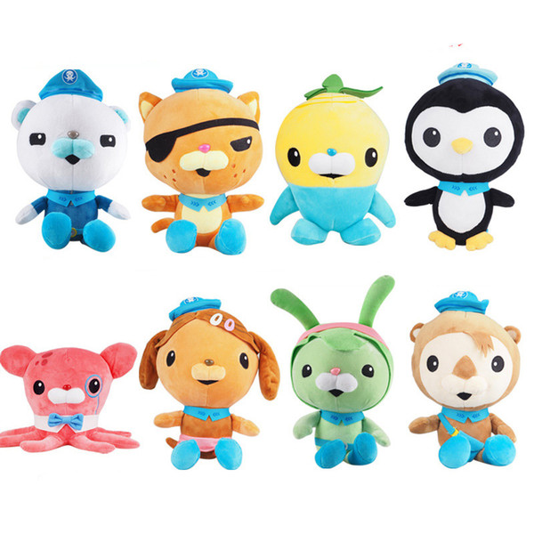 best selling The Octonauts Plush Toys Barnacles Peso Kwazii Stuffed Animals Cartoon Bear Cat Dog Rabbit Penguin Sea otter Dumbo octopus Dolls