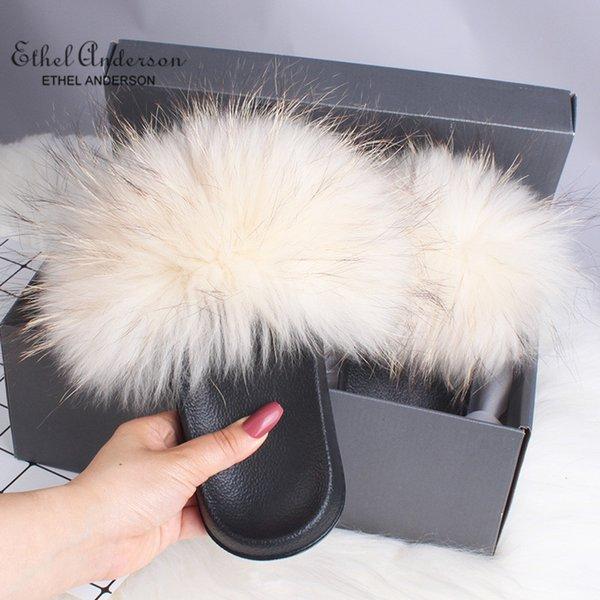 Beige Raccoon Fur