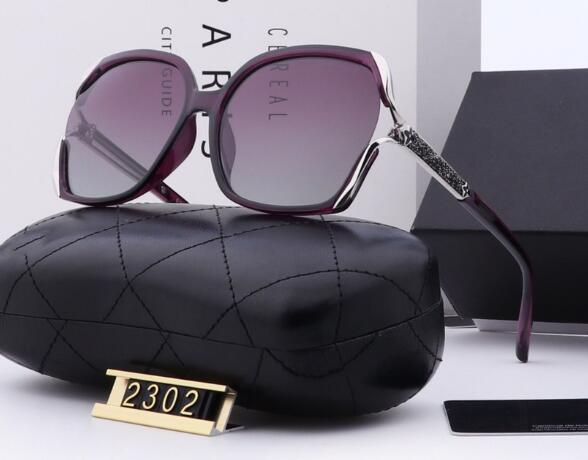 Wholesale-Brand new female polarized small sunglasses big box with drill sun glasses fashion big box thin face tr90 glasses 2302 suneyewear