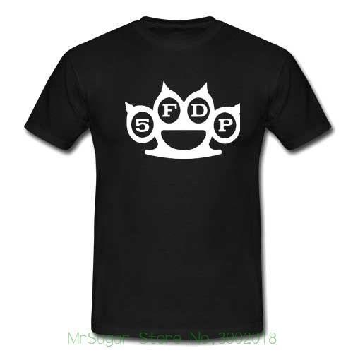 Fünf Finger Death Punch 5fdp Band T-shirt Für Männer 100% Baumwolle Brief Gedruckt T-shirts
