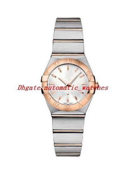 Роскошные часы 123.20.24.60.02.001 Дамы SS PG наручные часы Excellent 24мм кварцевый механизм моды женские часы наручные часы