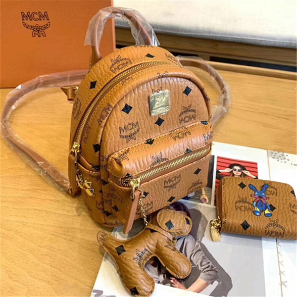 2019 высокое качество Марка мини-рюкзак Леди женская мода сумки женские сумки Сумки на ремне сумки кожаные рюкзаки клатч кошелек Кошелек подарок