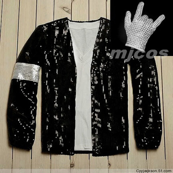 Free shipping Michael Jackson coat Billie Jean style Jacket & glove Modern dance costumes cosplay costume cos clothing