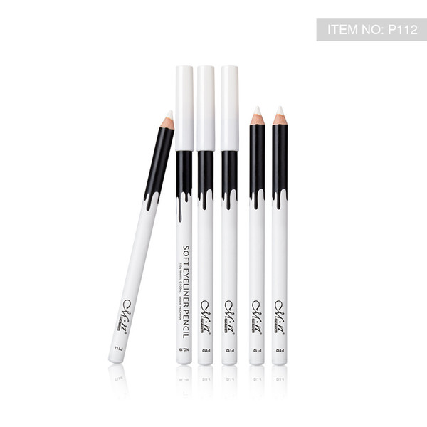 best selling Menow P112 12 pieces box Makeup Silky Wood Cosmetic White Soft Eyeliner Pencil makeup highlighter pencil
