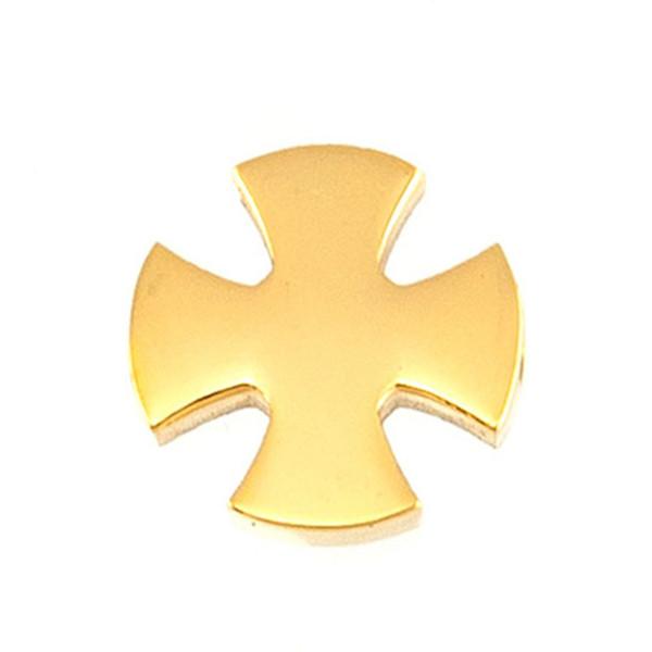 Cross Charms 2mm Drilled Hole Slide Pendant Women Jewelry Stainless Steel Bracelet Crux Mirror/Brush Polish Wholesale 50pcs