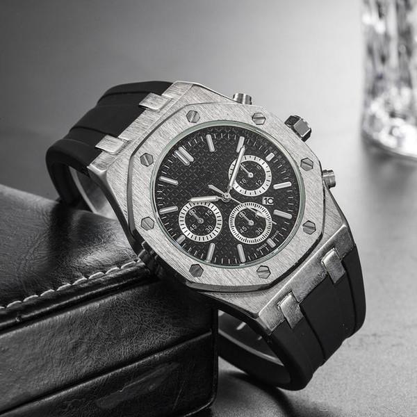 19 Preço barato por atacado Mens Esporte Relógio de pulso 45mm Movimento de quartzo Relógio de tempo masculino Relógio com elástico offshore
