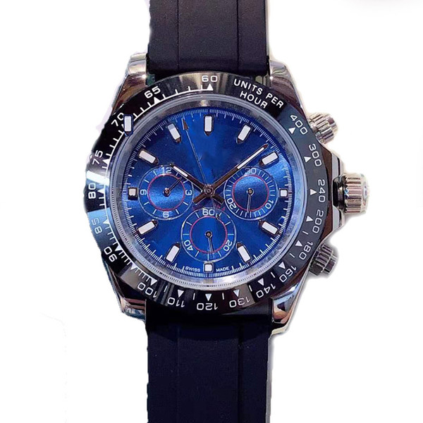 2019 Hot Fashionable mens watch luxury sweatproof automatic mechanical diameter 40mm rubber watchband waterproof gift