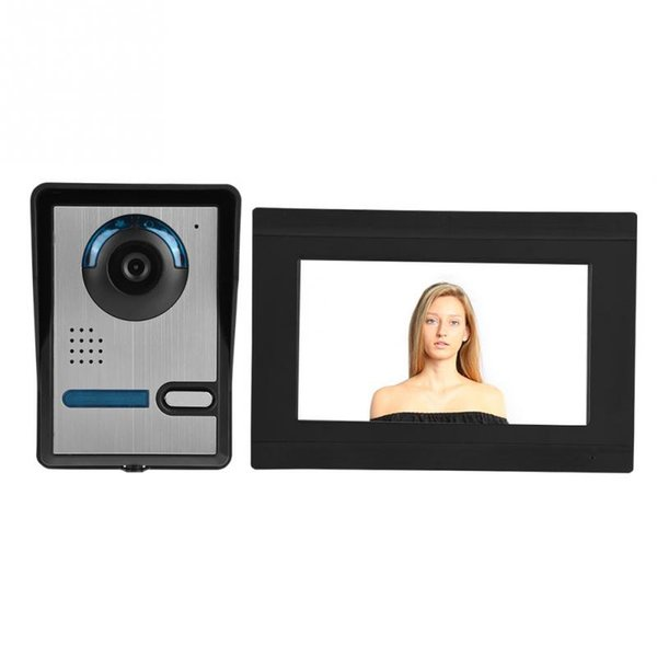 Wireless Video Door Phone WIFI Smart Peephole Doorbell Intercom Monitor Record Unlock 7inch Touch Screen 1000TVL With IR-CUT