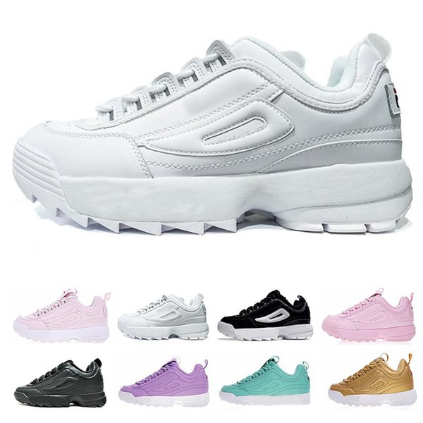 Designer Men Sneakers Disruptors 2 II Running Shoes For Men Women Triple White Black Gold Sports Luxury Shoe Men Casual Shoes Trainers 36-44