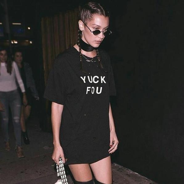 Yuck Fou Cactus Pocket Print Women T shirt Cotton Casual Funny T Shirt For Lady Top Tee Hipster Black Drop Ship