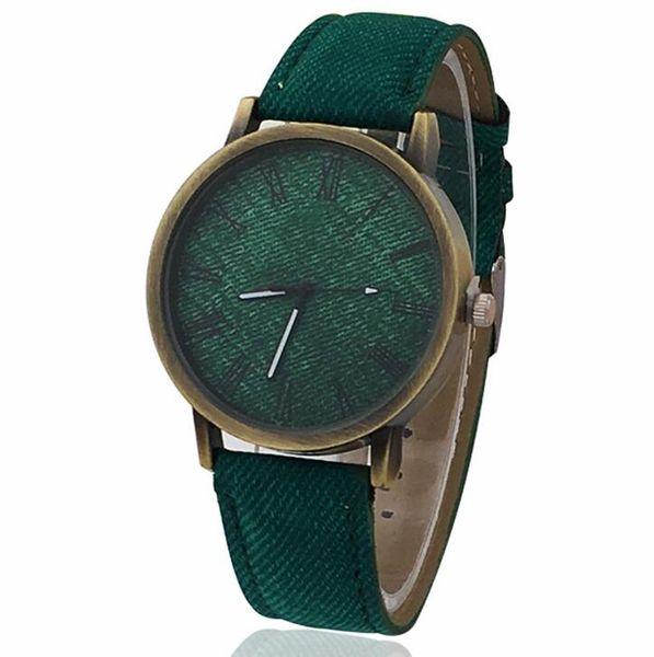 Джинсовый пояс панк смотреть холст универсальный взрослые часы модные кварцевые часы