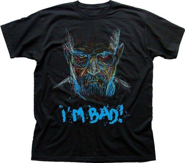 BB ilham Walter Beyaz aka Heisenberg Ben Kötü siyah t-shirt 9611 Erkek 2018 moda Marka T Gömlek O-Boyun% 100% pamuklu Tişört Tops