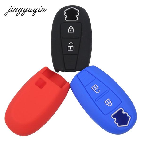 jingyuqin Silicone Cover Smart Key Case For Suzuki Swift Kizashi SX4 S-Cross Car Keyless Fob Set Skin Holder Protection C19011001