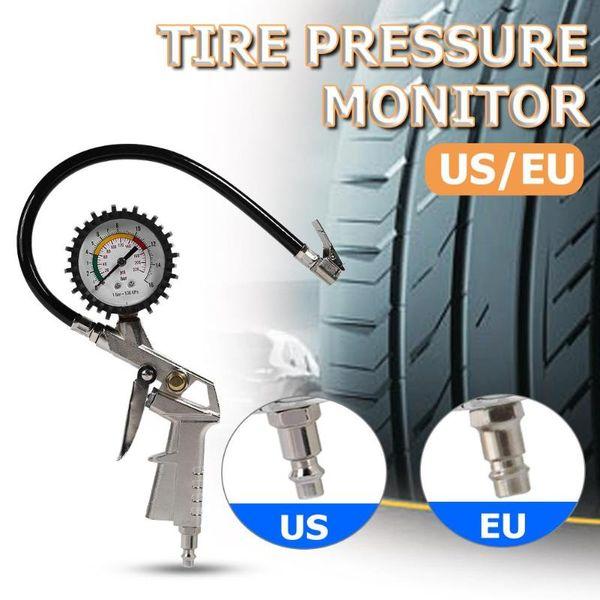 0-220psi coche neumático manómetro puntero auto del coche de motor para inflar con aire del neumático calibrador de presión Sistema de Monitoreo probador del metro de la