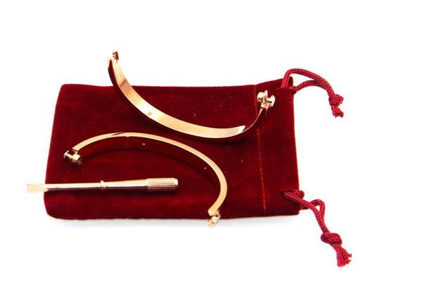 Nouveaux bracelets en acier chaud argent bracelets en or rose bracelets femmes hommes bracelet comme cadeau