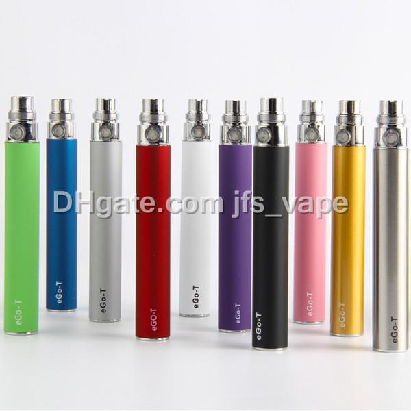 eGo-t vaporizador bateria para cigarro eletrônico E-cigarro 510 Tópico jogo CE4 atomizador CE5 clearomizer CE6 650mAh 900mAh 1100mAh 10 cores