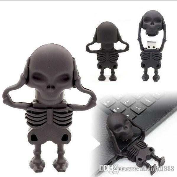Bastoni di scheletro 64GB del bastone della scheletro della penna di Humen dell'azionamento dell'istantaneo della chiavetta USB di capacità reale Pendriv