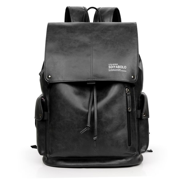USB Charge Antitheft Backpack Men School Bag PU Leather Travel Bag High Quality Brand Fashion Backpacks 14 Inch Laptop Rucksack
