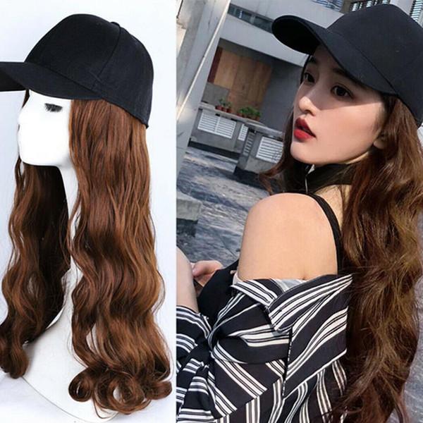 Cap Cappello parrucca ondulata lunga piena cosplay riccia Donne Halloween Party Club dei capelli della ragazza