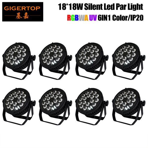 Freeshipping 8 Units Flat 18x18W Non-waterproof Led Par Cans Tyanshine 6 Color Lamp Party Wedding Professional Wall Projector