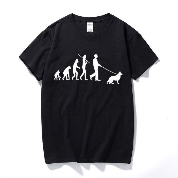 Evolution Dachshund Pastor Alemán Camisetas Camisetas Camisetas Camisetas Divertidas Regalo de cumpleaños Regalo para papá Hombres Él Marido Novio