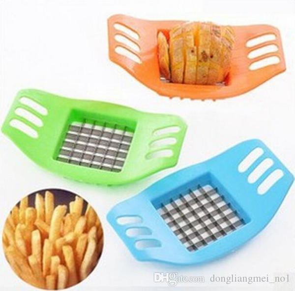 Aço inoxidável DLM2020 ABS batata cortador vegetal Slicer Chopper chips Fries dispositivo de cozinha Cozinhar Ferramentas Batata Vegetal wn030 Slicer