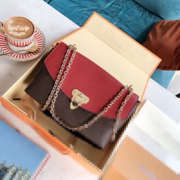 Diseñador de lujo monedero Placide L de las mujeres del patrón de flor del hombro de la cadena bolsas de diseño de la correa de las señoras bolsos bolsa con la caja