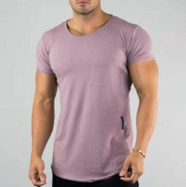 2019 nuovo design Uomini Estate Palestre Casuali Tasche Magliette Top Crossfit Fitness Bodybuilding Muscolare Maschio Breve Streetwear Tee Top