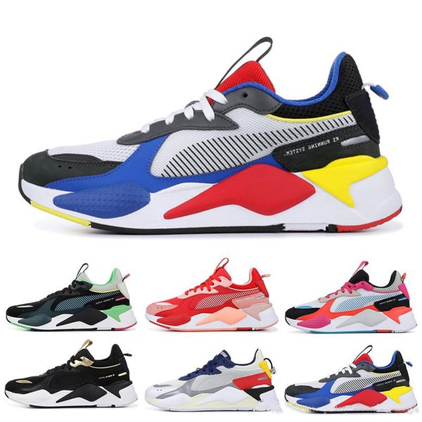 Système de course RS-X Reinvention HOT WHEELS Trophy Famille RS Blanc Noir Bleu Rouge Jaune Papa Chaussures Mode sportive Baskets de jogging