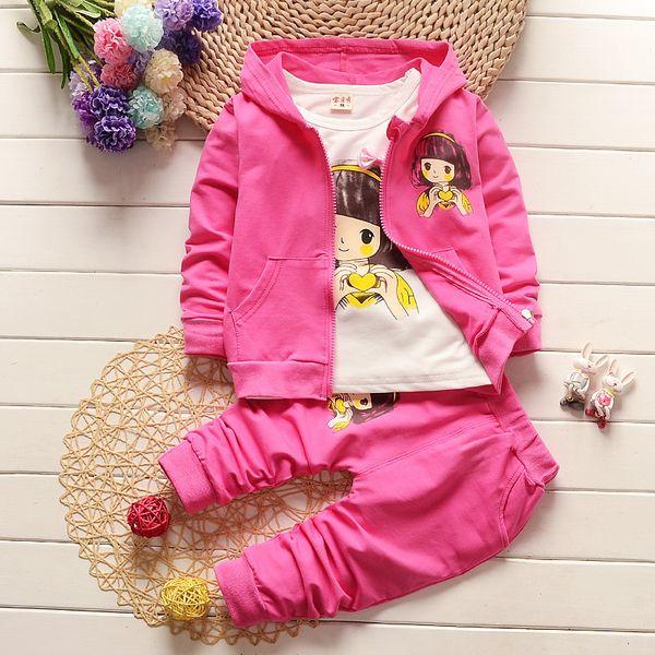 cc8eb59e1 Buena ropa de bebé para niñas qulaity establece primavera infantil chicas  lindas chaquetas + camiseta +