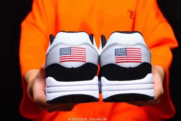 Compre Nike Air Max 1 USA 4th Of July Zapatillas De Running Para Hombre Zapatillas De Deporte De Leopardo Azul Marino Zapatillas De Deporte De Running