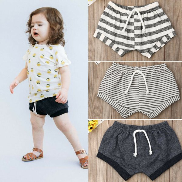 best selling 2019 Emmababy Toddler Baby Kids Girls Boys Shorts Summer New Casual Striped Shorts Cotton Loose Bottoms Briefs 3M-6Y