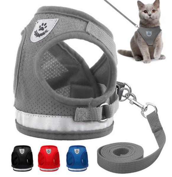 Hund Katze Walking Jacke Geschirr Leine Haustiere Welpen Kätzchen Kleidung Einstellbare Weste H