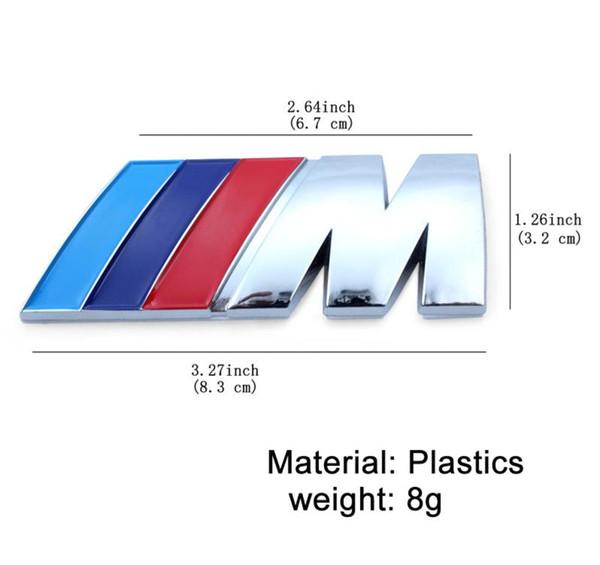 50 Adet / grup ABS Araba Rozeti Amblem Tech Badge Güç Spor Hood Boot Arka BMW için 3d Sticker M / M3 / M5