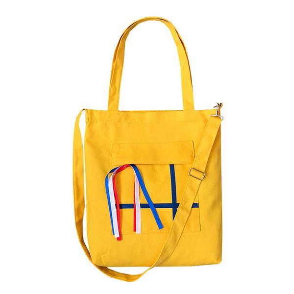2019 Nuova borsa da donna semplice in tela diagonale con stampa su una spalla Borsa di tela portatile letteraria Grande capacità Shopping verde
