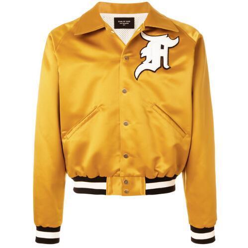 Tanrı Ceket Erkekler Kadınlar Yüksek Kalite korkusu SIS MA1 Bombacı Rüzgarlık 1987 Koleksiyonu Moda Rahat Tanrı Ceket ...