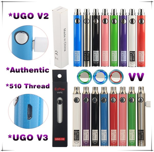 UGO V3 V II EGO T Passthrough E Sigaretta Vape Mod Batteria a tensione variabile 650 900 mAh eCigs Caricabatterie eVod Preriscaldare penna vaporizzatore