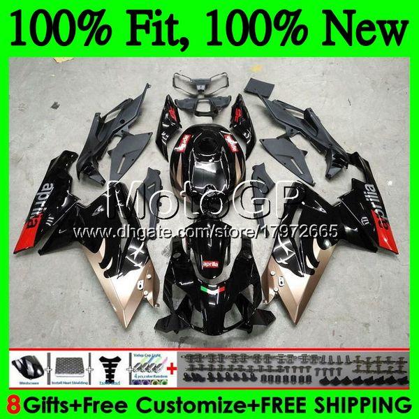 Inyección Para Aprilia RS4 RSV125 06 07 08 09 10 11 RS-125 0GP14 RS 125 RR Rojo negro RS125 2006 2007 2008 2010 2010 2011 Carenado Carenado