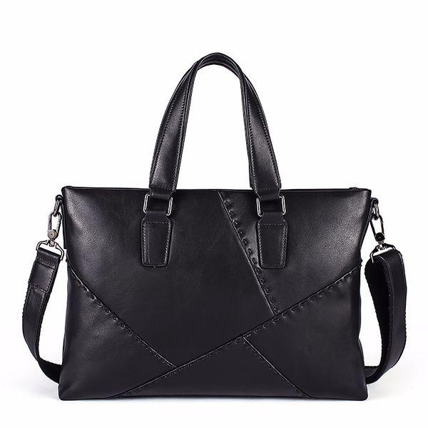 Fashion Shoulder Messenger Bag Men Briefcase Genuine Leather Antique Retro Business Briefcase Laptop Case Attache Portfolio Bag