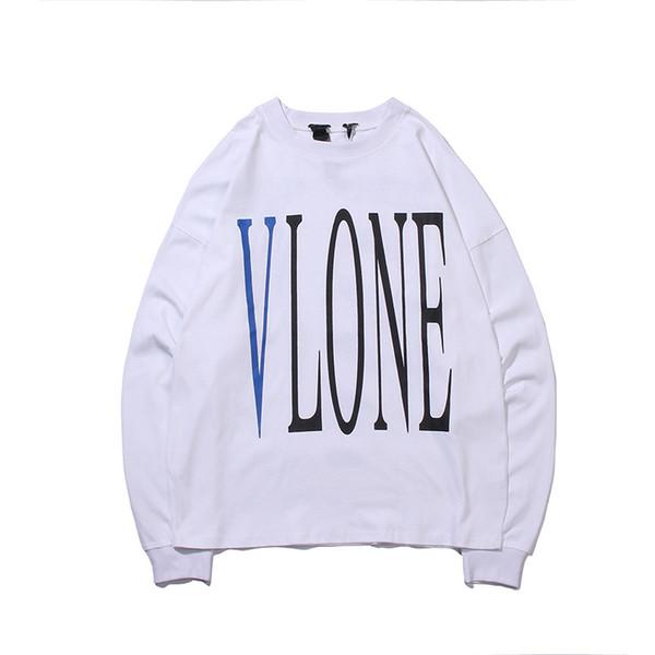 Vlone Erkek Moda Kapüşonlular Erkekler Kadınlar Yüksek Kalite Hip Hop Kazak Erkek Tasarımcı Yılan Baskı Uzun Kollu T Shirt