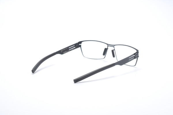 Irregular figure-shaped frame stainless steel germany Brand Glasses Screwless myopia prscription lenses with original case