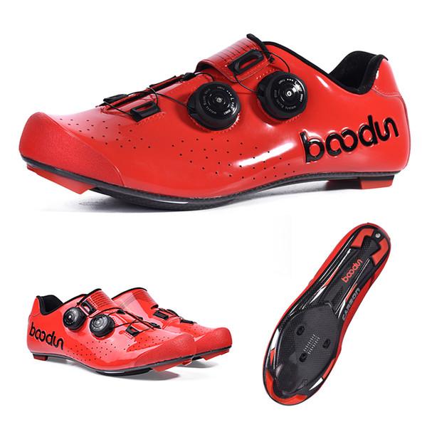 Atletik Binme Bisiklet MTB Nefes Otomatik Kilit Bisiklet Bisiklet Ayakkabı Ultralight Karbon Elyaf Yol Bisikleti Bisiklet Ayakkabı